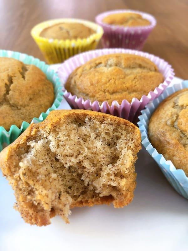 Moist banana honey muffins thermomix