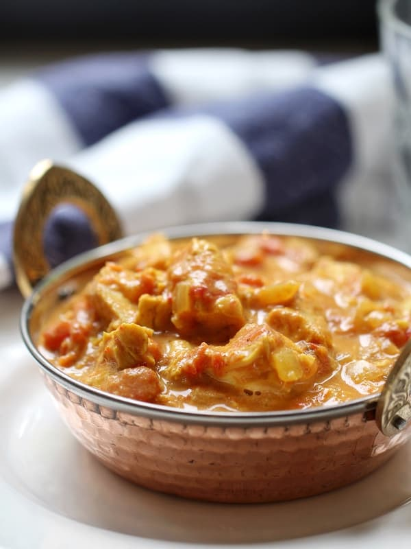 Chicken curry leftovers