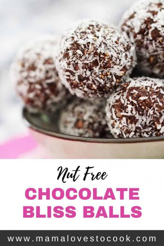 Chocolate Bliss Balls Pinterest Pin