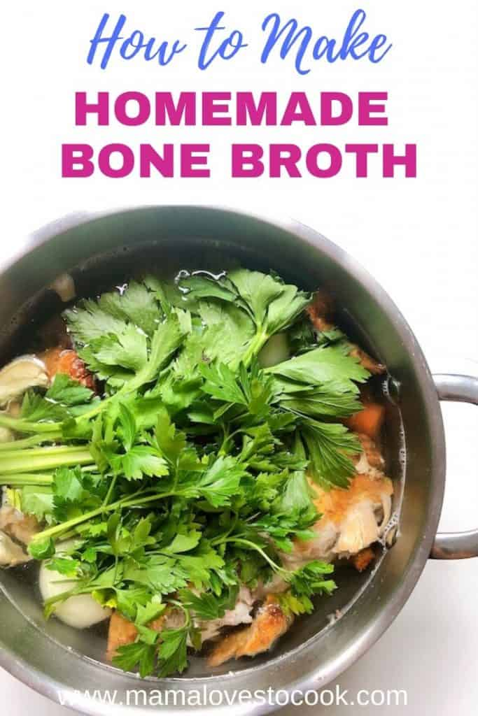 How to Make Bone Broth pin for Pinterest