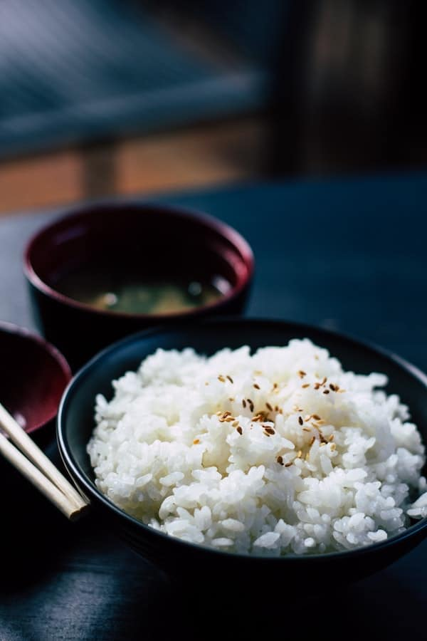 Rice from rice cooker