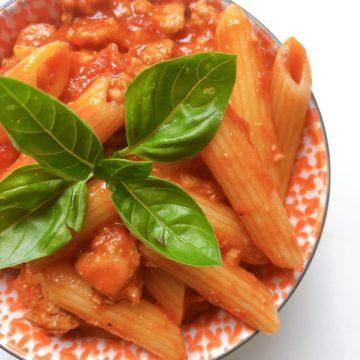 Sausage pasta dish