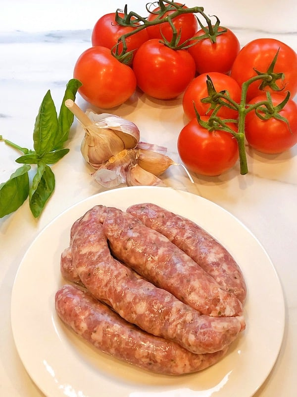 Sausage Tomato pasta ingredients