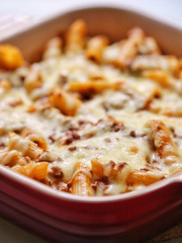 Bolognese baked pasta