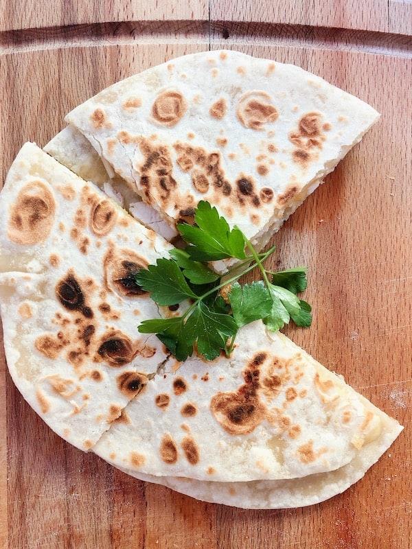 Enchiladas using fresh flour tortillas
