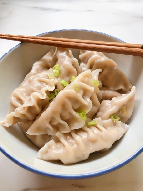 Chinese dumplings in bowl
