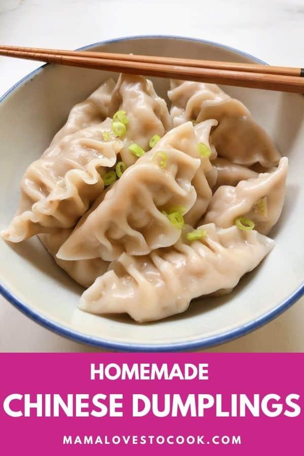 Chinese Dumplings Recipe pinterest