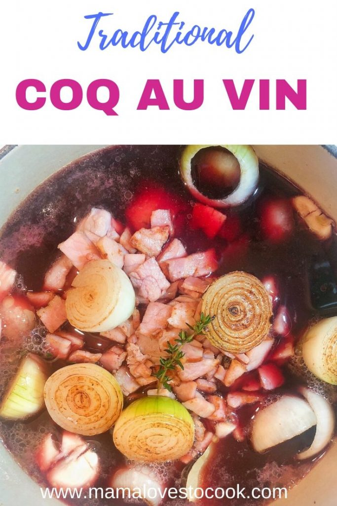 Coq au vin pinterest pin