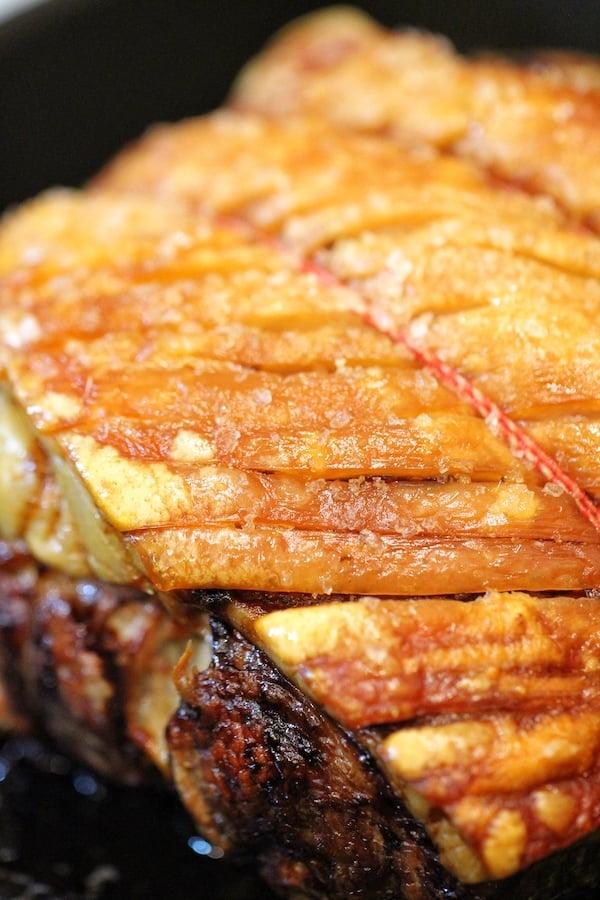 Roast pork crackling