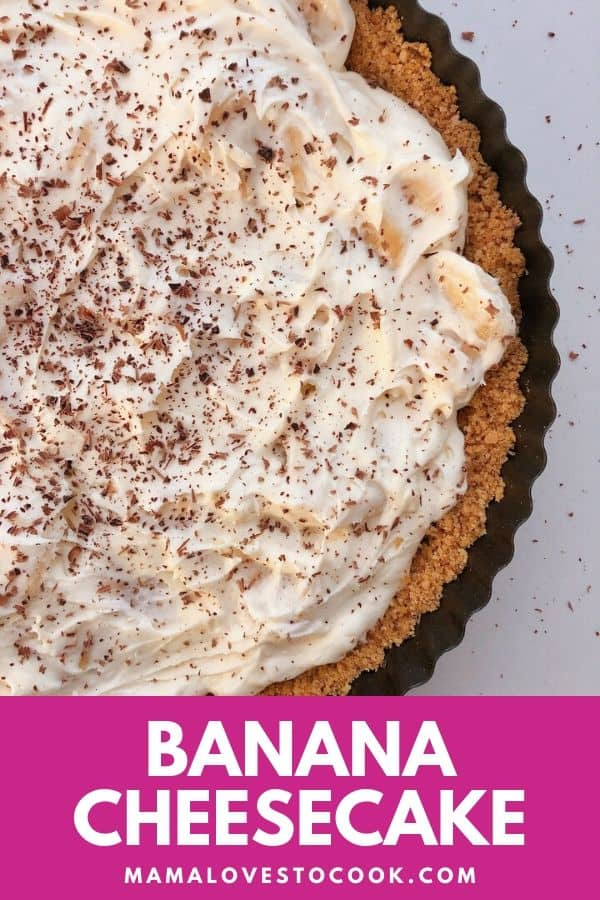 Banana cheesecake pinterest pin