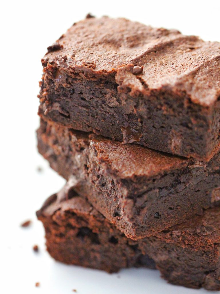 Thermomix Brownies stack of 3