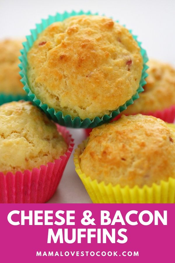 Cheese and Bacon Muffins Pinterest pin
