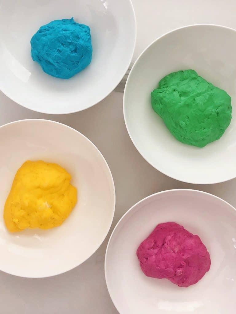 Rainbow bread dough