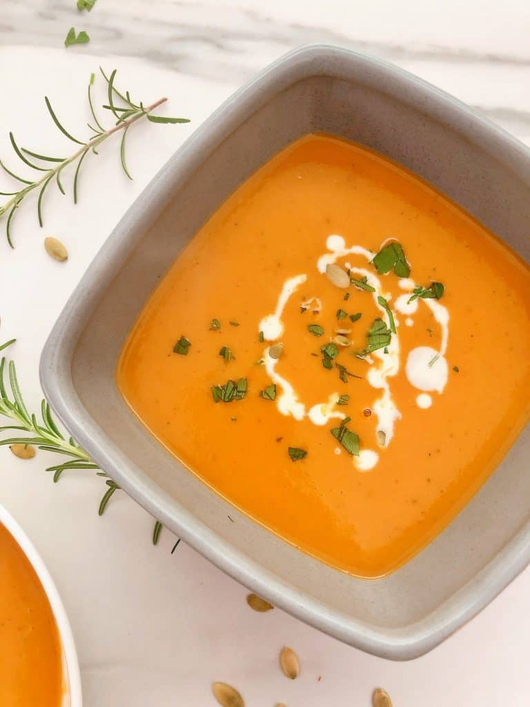 Thermomix Pumpkin soup in bowl