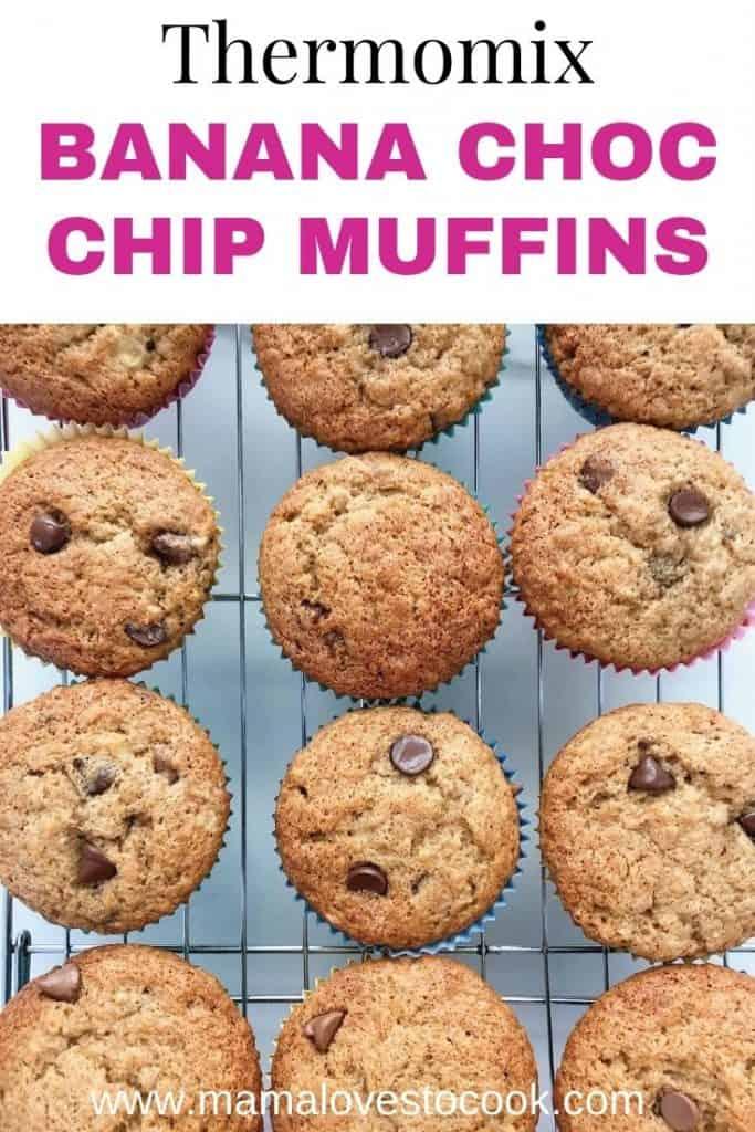 Thermomix Banana Choc Chip Muffins pinterest
