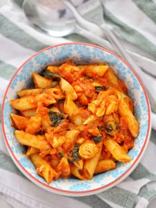 Chicken Tomato Pasta in bowl