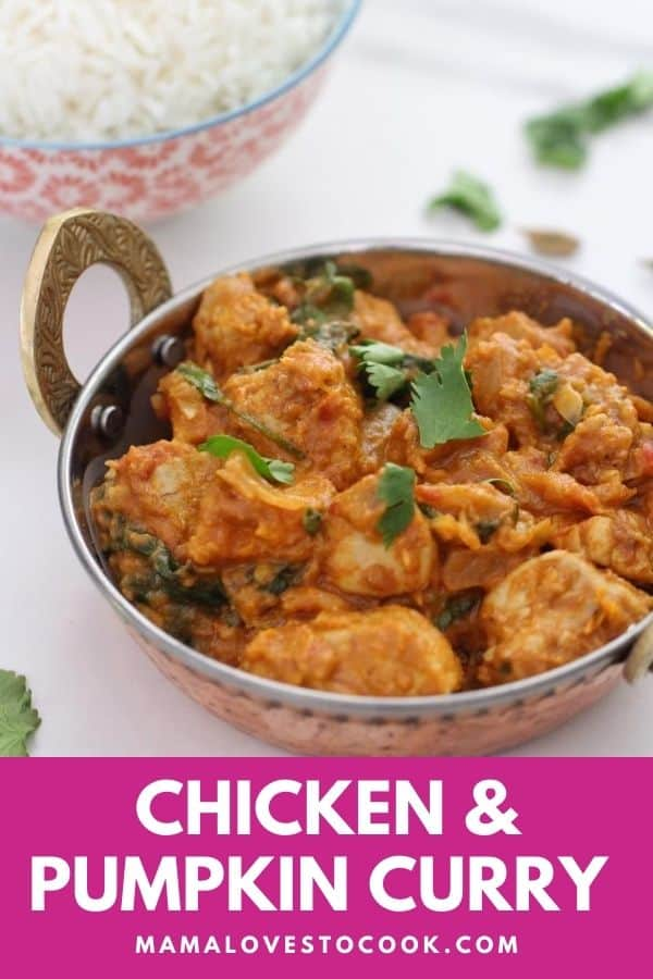 Chicken and pumpkin curry pinterest pin