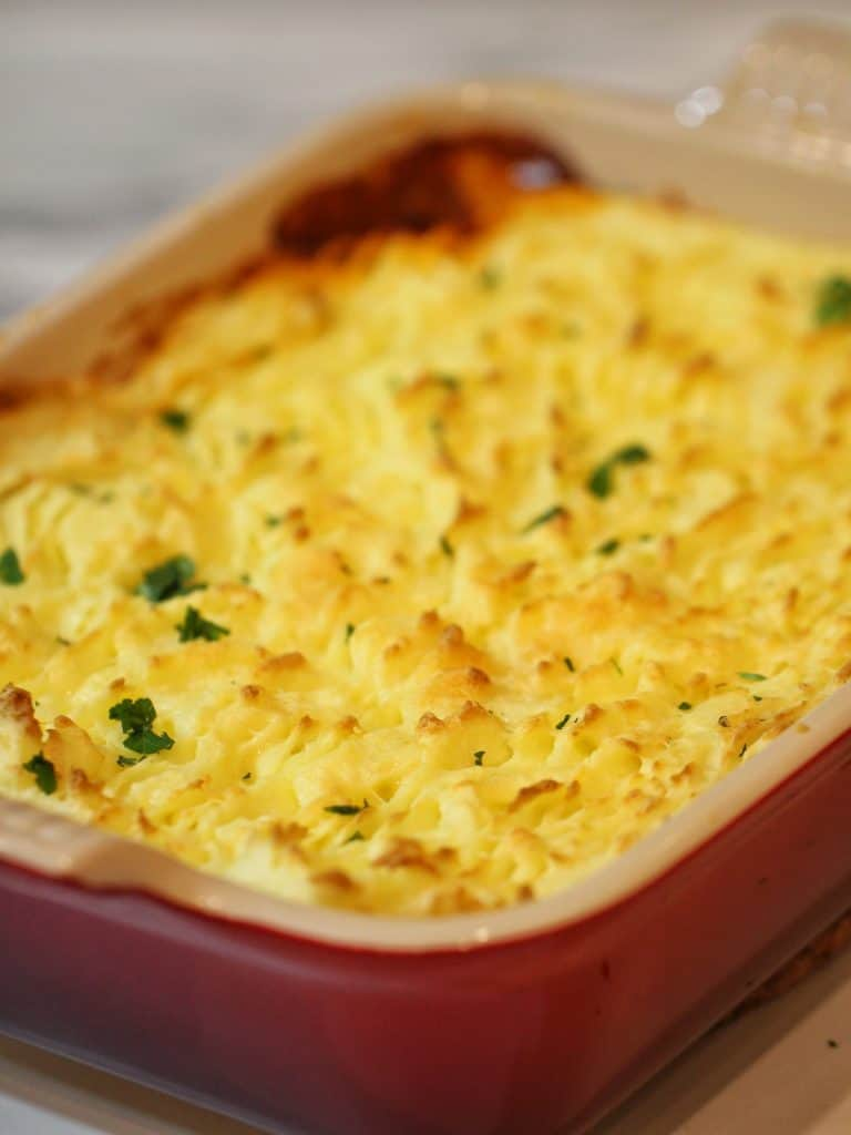 Cottage pie from oven