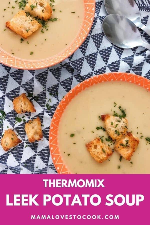 Thermomix Leek & Potato Soup pin