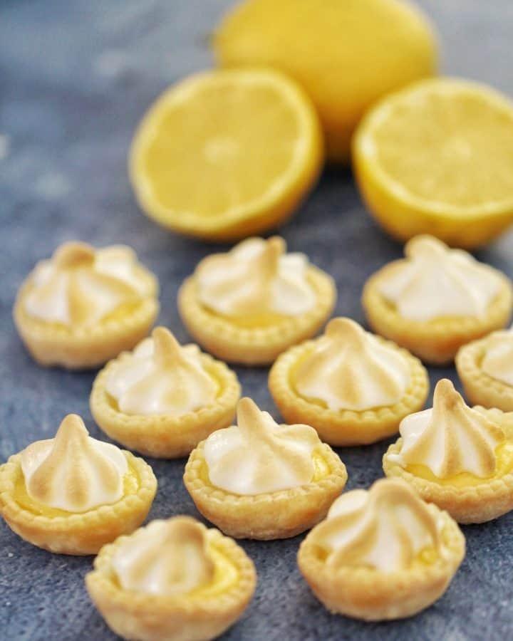 Mini lemon meringue tarts