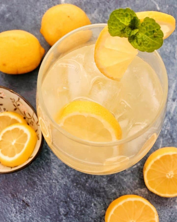 Thermomix lemonade in glass