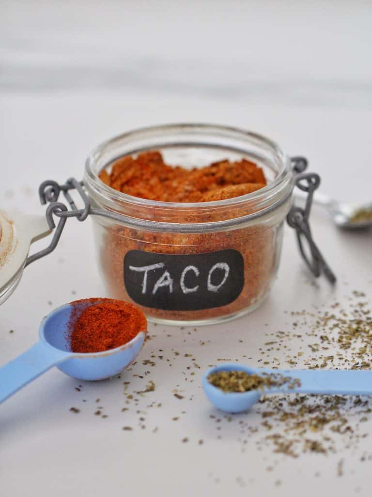 Taco seasoning in jar