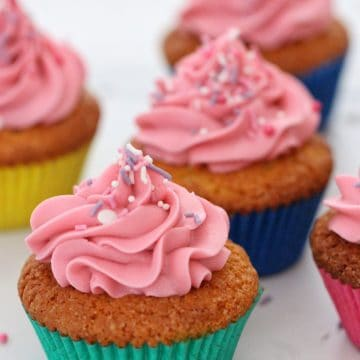 Thermoimix vanilla cupcakes with buttercream frosting