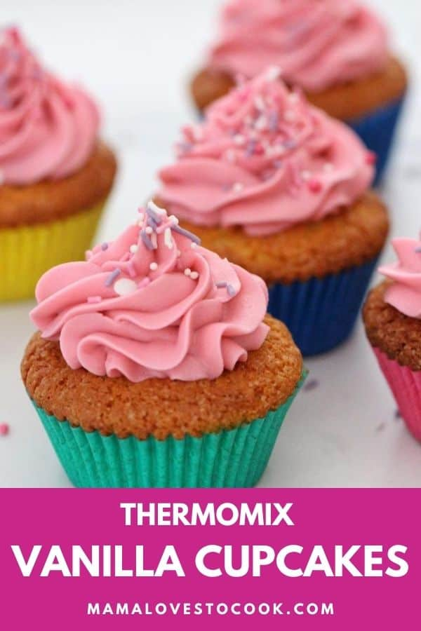 Thermomix Vanilla Cupcakes with buttercream icing