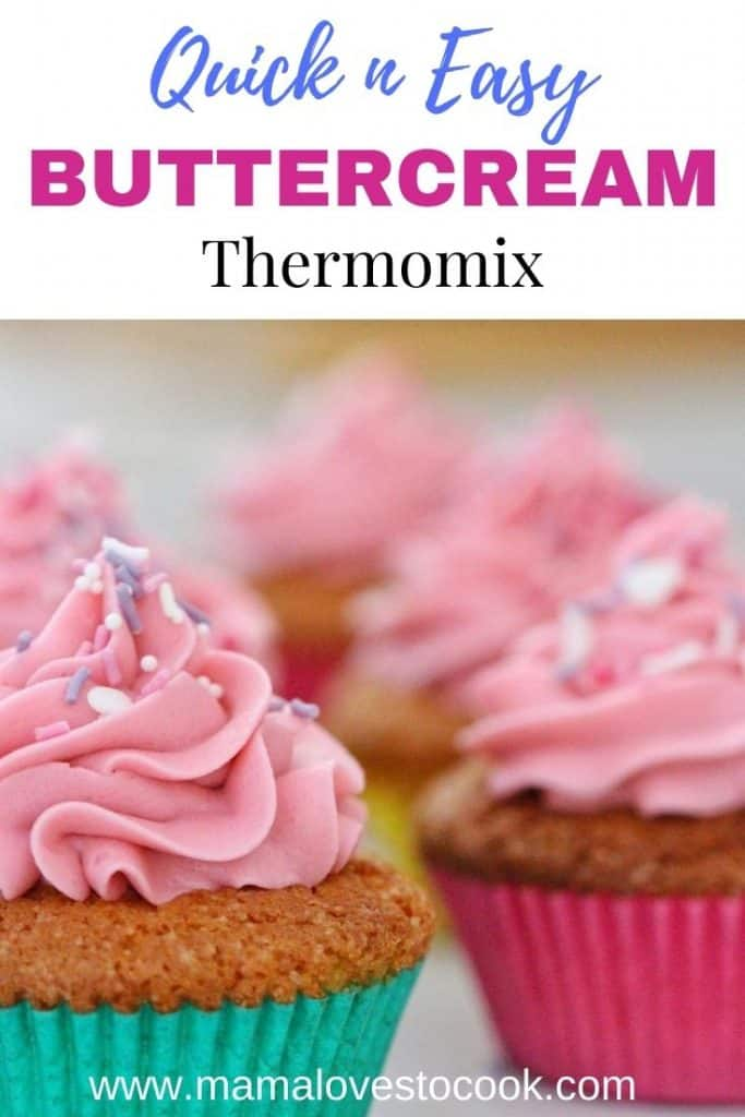 Thermomix Buttercream Frosting pinterest pin
