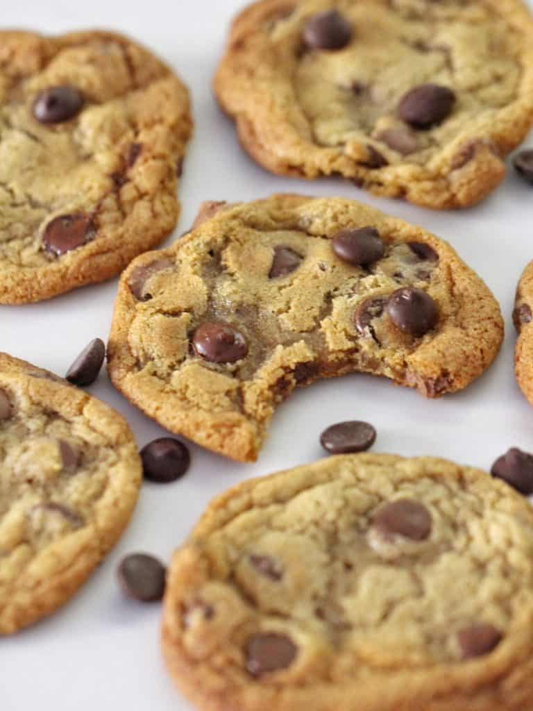 Thermomix Chocolate Chip cookies with bite missing