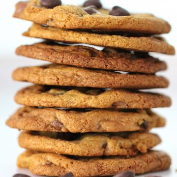 Stack of Thermomix Choc Chip cookies