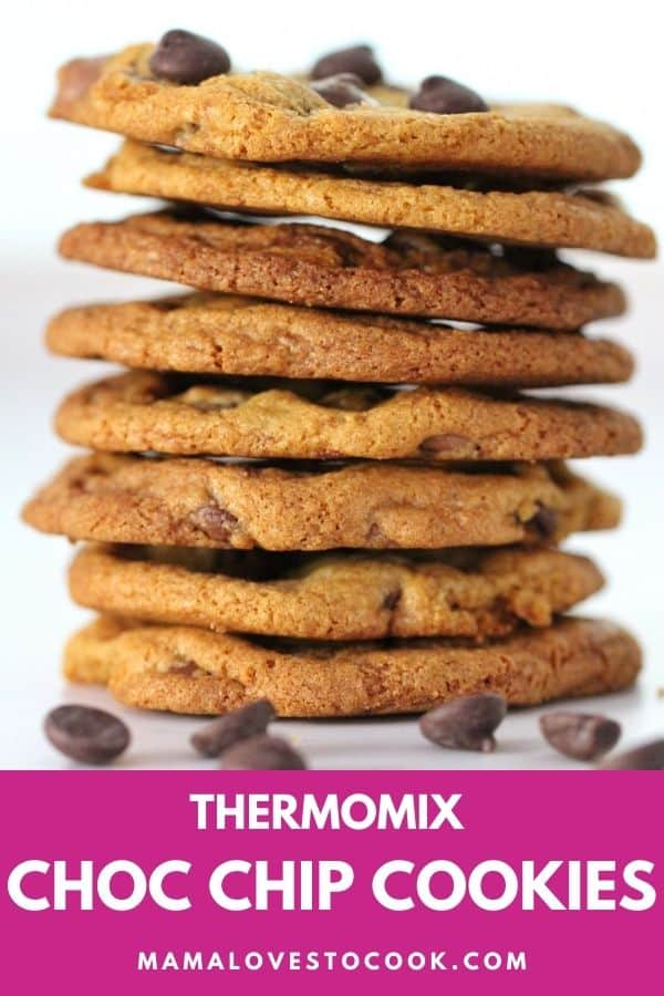 Thermomix Choc Chip Cookies pinterest pin
