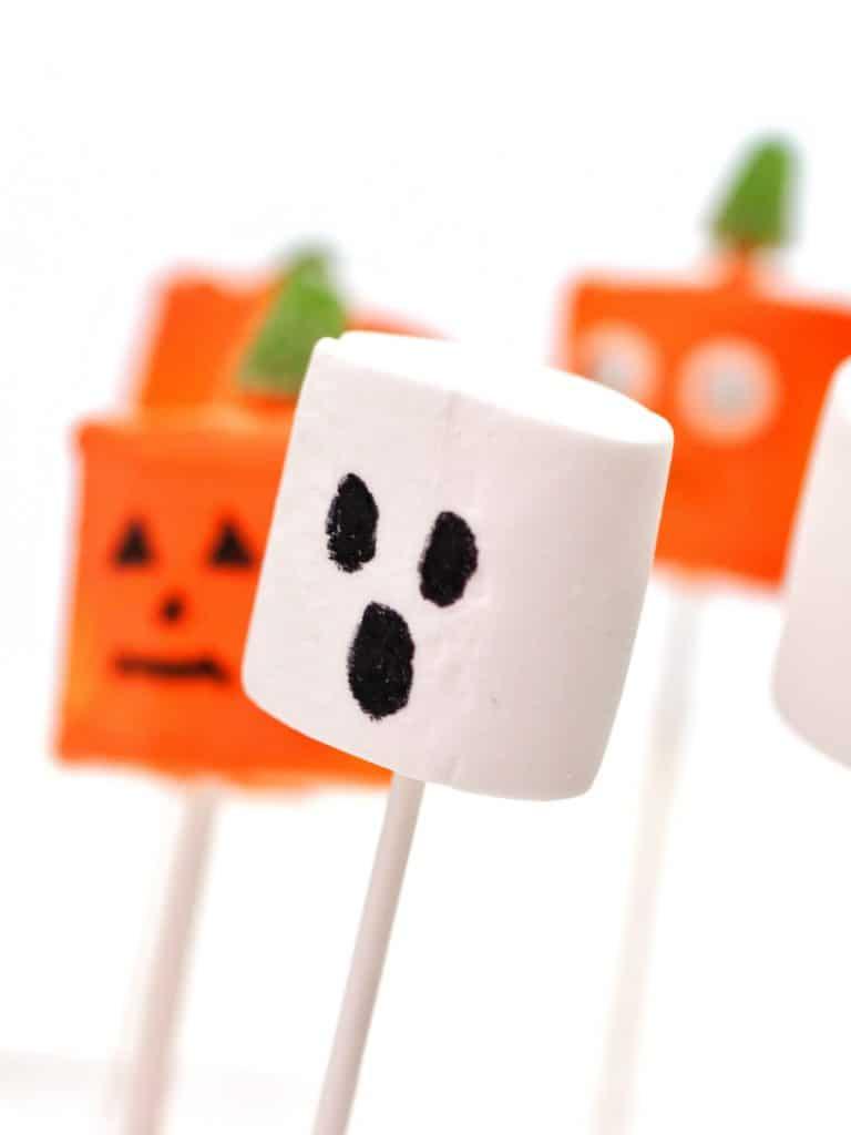 Ghost Halloween Marshmallows