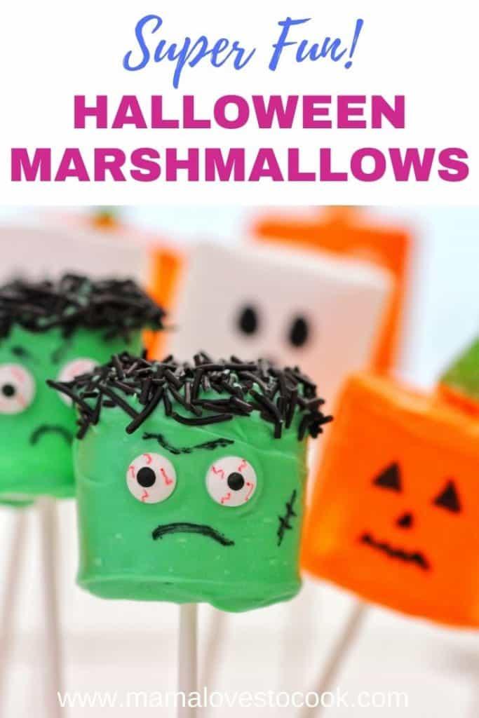 Halloween Marshmallow Pops pinterest pin