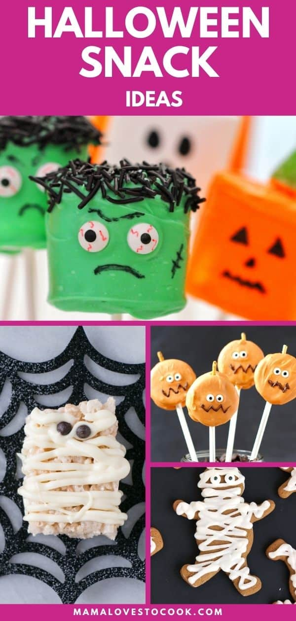 Easy Halloween Party Food Ideas pinterest pin