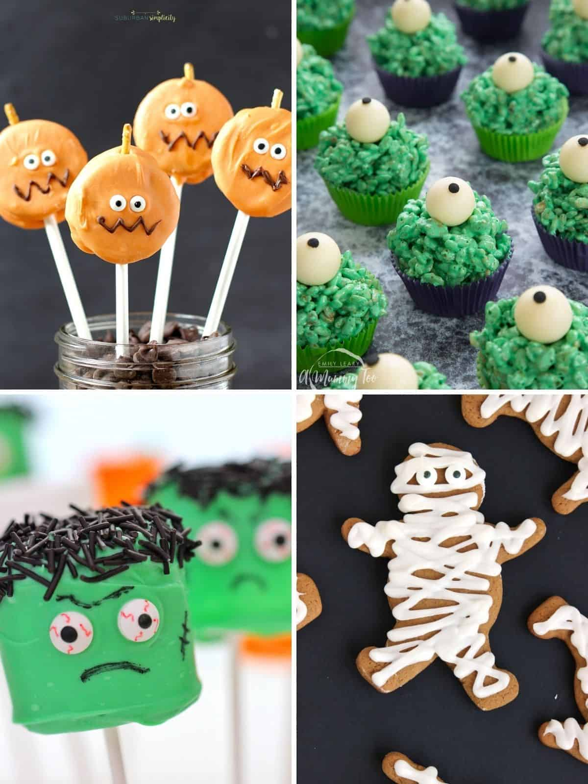 halloween treats collage