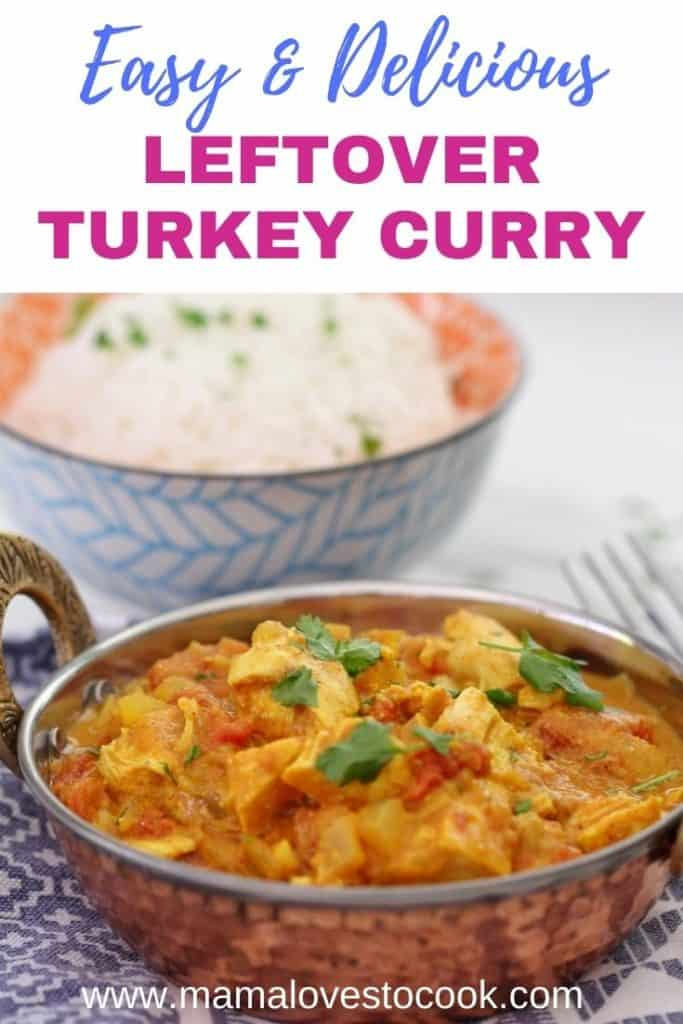 Leftover Turkey Curry pinterest pin
