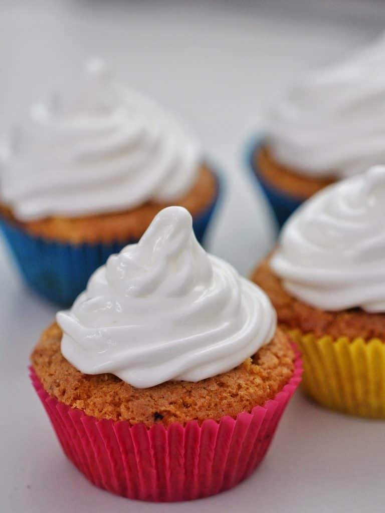 Meringue on cupcakes