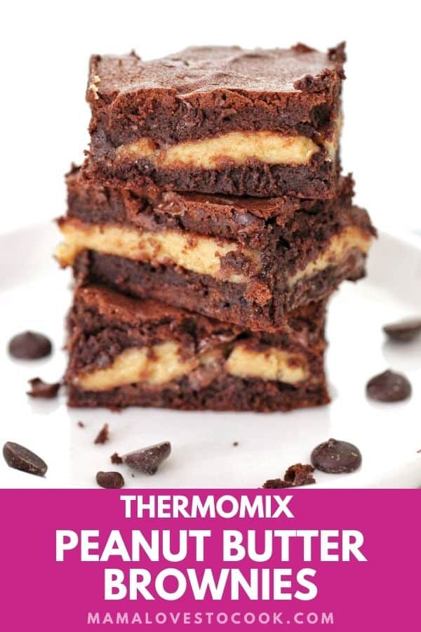 Thermomix Peanut Butter Chocolate Brownies pinterest pin