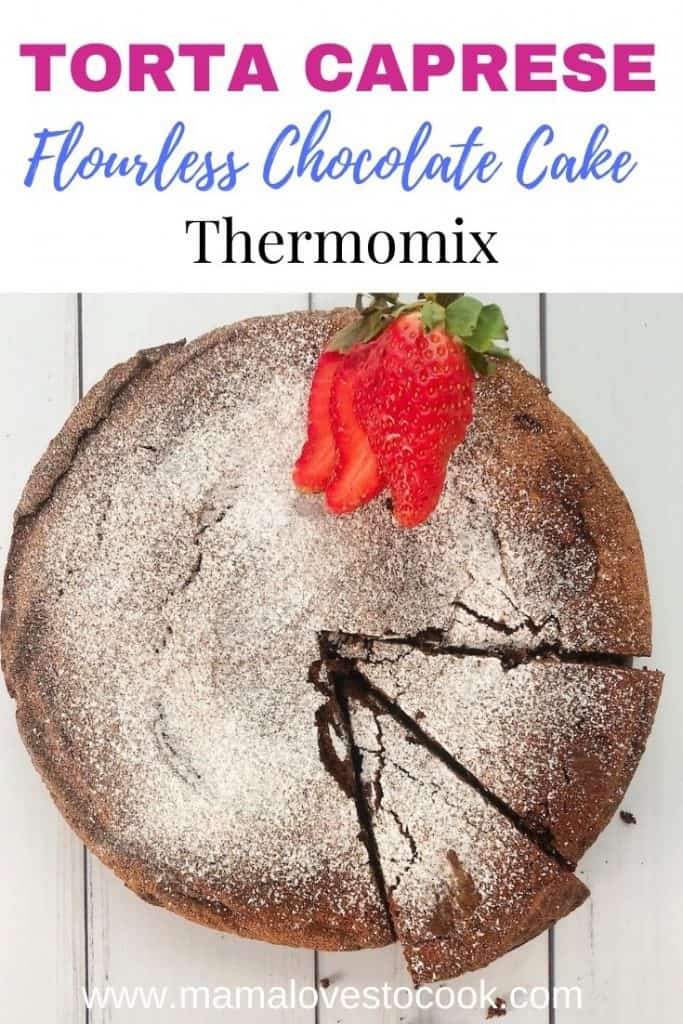 Thermomix Torta Caprese pinterest pin