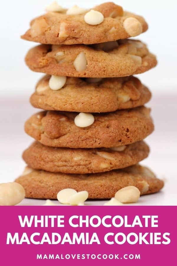 White chocolate macadamia cookies pinterest pin