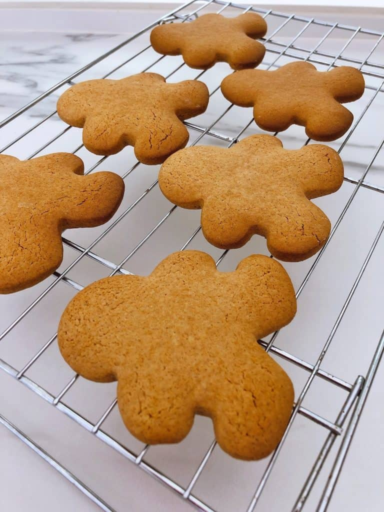 Thermomix gingerbread men cooling on rack