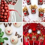 REindeer party treats collage