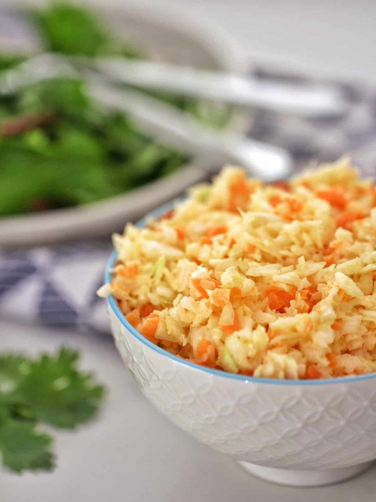 Thermomix Coleslaw in a bowl