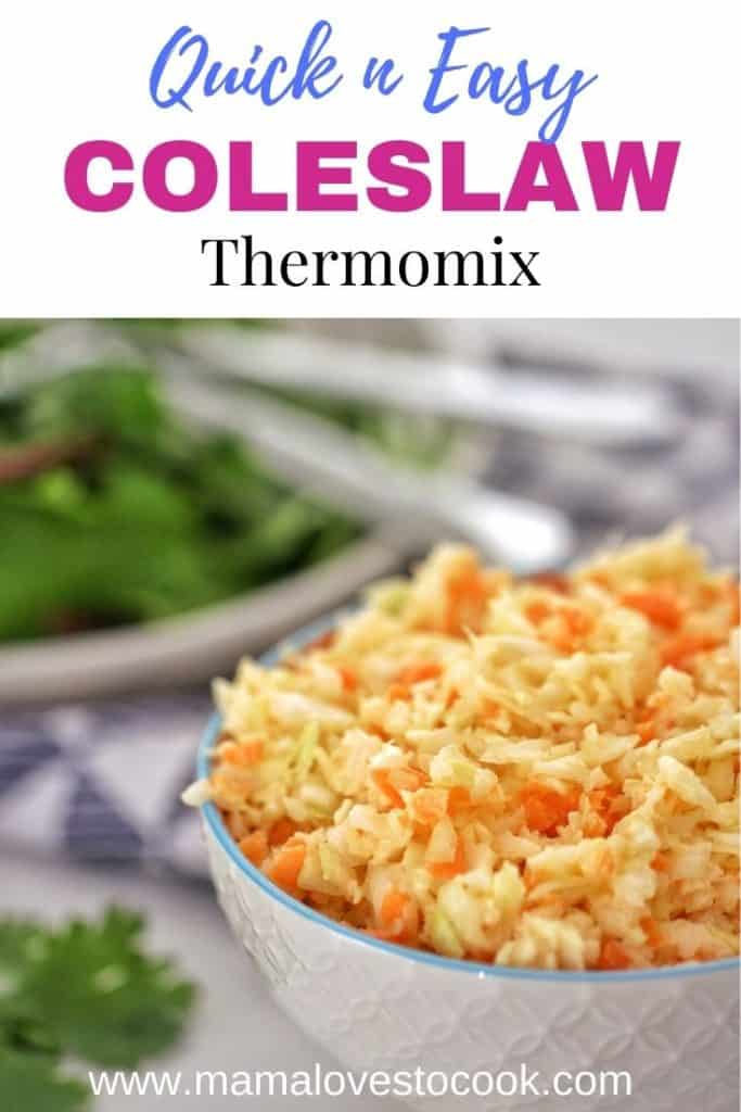Thermomix Coleslaw pinterest pin