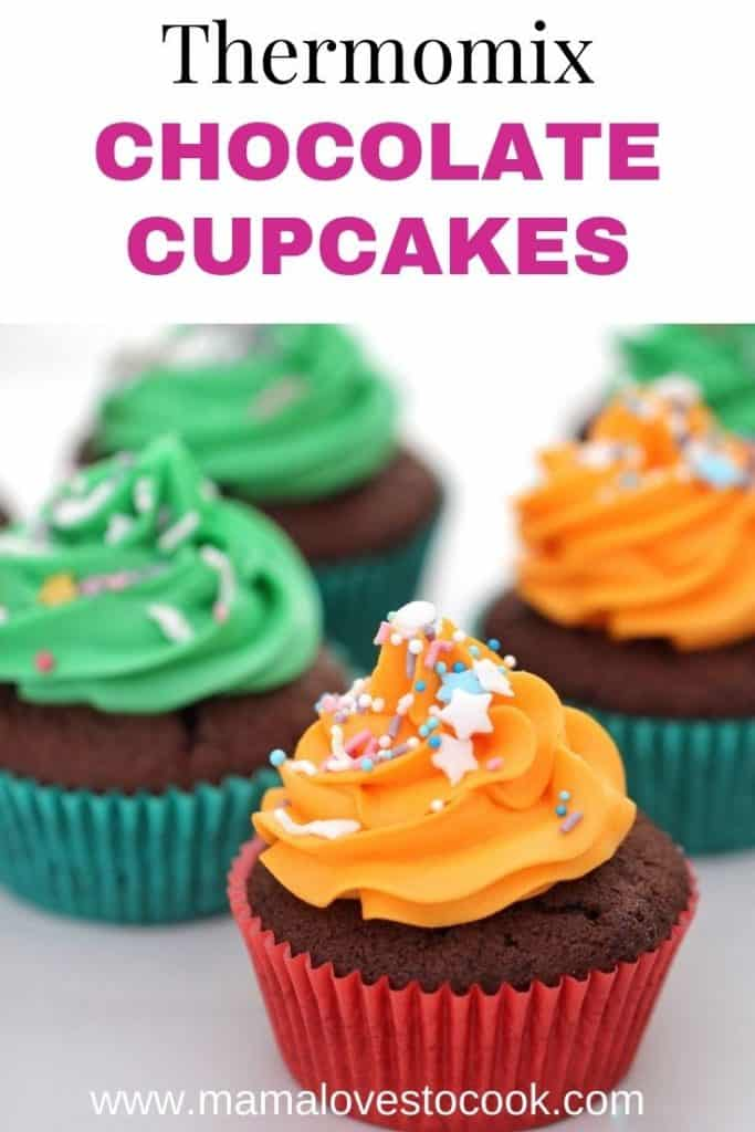 Thermomix Chocolate Cupcakes pinterest pin
