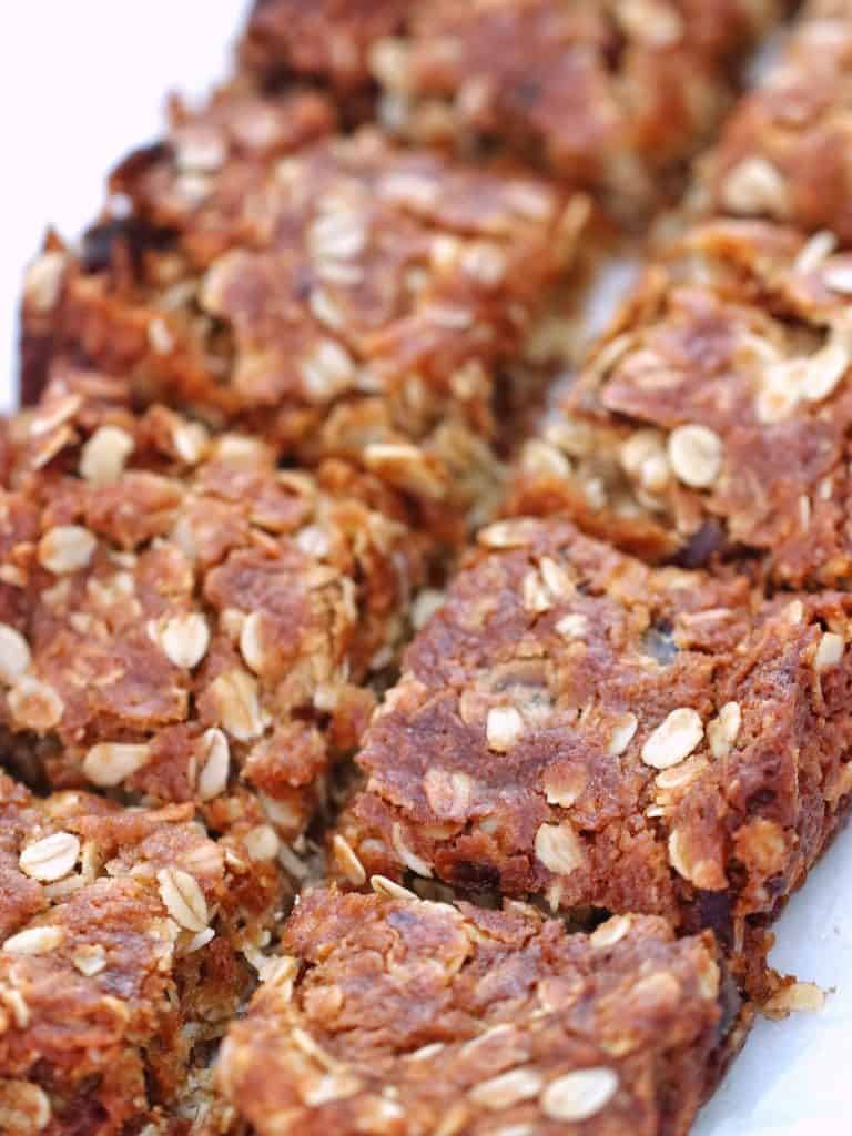 date and oat slice cut into slices