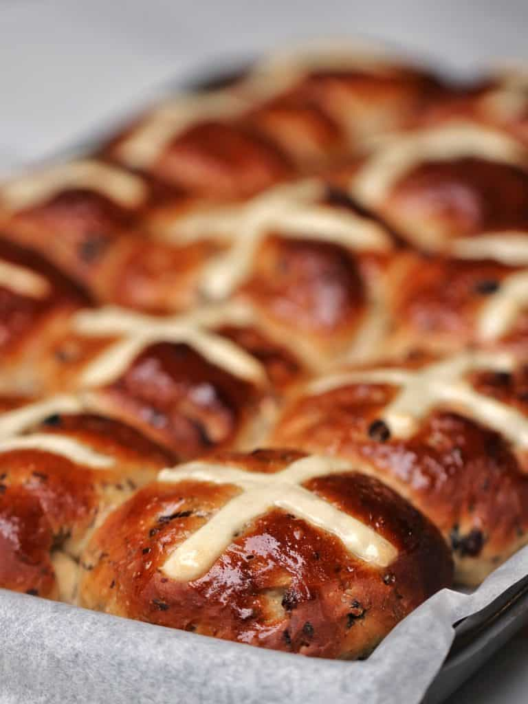 Thermomix Hot Cross Buns fresh from the oven