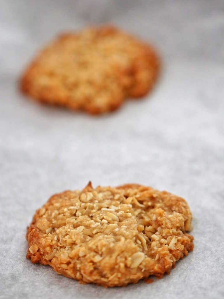 Anzac biscuit fresh from the oven