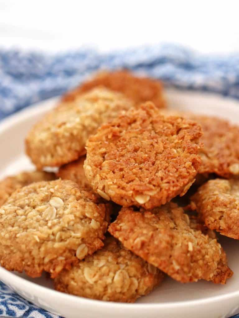 Bowl of Thermomix Anzac Biscuits